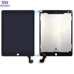 Ipad lcd display de ar on-line-Novo conjunto de tela de lcd a1567 a1566 para ipad air 2 ipad 6 assembléia lcd montagem da tela digitador assembléia preto branco