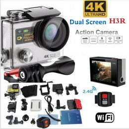 Wholesale Sports Camera Hd For Skiing - 4K WIFI Action camera H3R Helmet Waterproof sport Camera DVR Camcorder Driving Recorder For Bike Diving Surfing Ski Skydiving VS H9 H8R