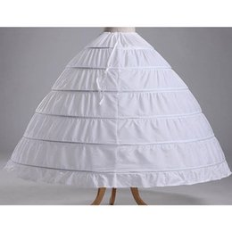 Wholesale Ivory Wedding Dress Petticoat - New Arrival 125cm Six Laps Wedding Dress Petticoats Thicken Ball Gown Petticoat Bridal Accessories Real Photos