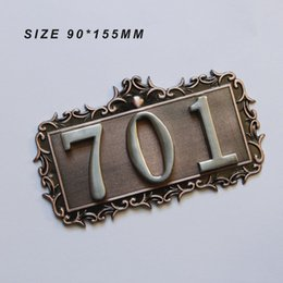 Canada Numéros de maison de style européen de 3 chiffres de haute qualité 3D Numéros de carte Numéros de porte Hôtel Villa Appartement Placage Plaque Signes Offre