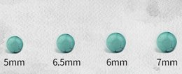 Wholesale Loose String Beads - Wholesale - 5 6 6.5 7mm Turquoise Loose beads hand string Necklace earrings accessories Optional