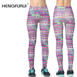 Wholesale Cowboy Leggings - Wholesale- 2016 new Printed retro seamless imitation cowboy leggings Nine minutes of pants cultivate one's morality show thin leggings