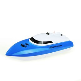 Wholesale Toy Boat Races - Wholesale- 2016 BLUE RC Boat 24cm R C Racing Boat RC Electric Radio Remote Control Speed Ship rc Toys boats