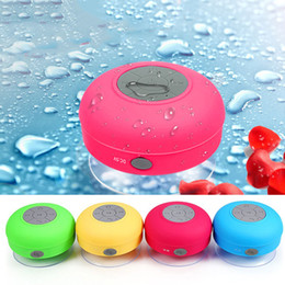 Wholesale Portable Shower Floor - Portable Shower Waterproof Bluetooth Speaker Mini Wireless Bluetooth Handsfree Speakers for iPad iphone 6 7 plus Samsung note 4 Dropshiping