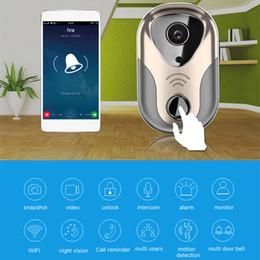 Wholesale Video Camera Covers - Wireless WIFI Video Door Phone Doorbel Intercom System Night Vision Waterproof Camera with Rain Cover HD 720P