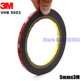 Wholesale 3m Sided Vhb Tape - Wholesale- 2016 3M VHB 5952 Black Heavy Duty Mounting Tape Double Sided Adhesive Acrylic Foam Tape 5mmx3Mx1.1mm