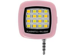 Anillo de foto flash online-Universal Cell Phone Flash LED Mini Spotlight Ring Iluminación de relleno Bombilla de la lámpara de la cámara con 3.5MM Jack para mejores fotos Video In Dark