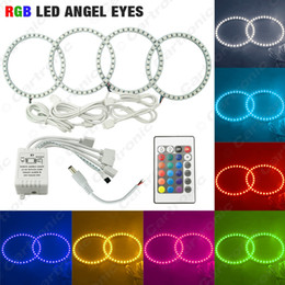 Wholesale Bmw E46 Eyes - COLORFUL 5050 RGB LED FLASH ANGEL EYES HALO RINGS For BMW 3 Series E46 (2Doors  Convertible) 1999-2001 SKU#:4325