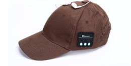 Wholesale Apple Hats Wholesale - Wireless bluetooth headphone cap smart call music hat outdoor sports baseball for All phone and DHL Ferr Shipping