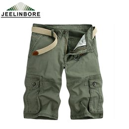 Wholesale Yellow Cargo Shorts For Men - Wholesale-2016 Hot Selling brand 6 color fashion men army cargo pant camouflage short pants for men size 28-38