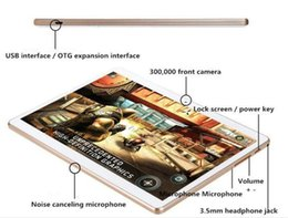 Wholesale Thinnest Webcam - 10-inch 1280 * 800 resolution Android4.4 tablet IPS HD quad-core ultra-thin MTK6582 1G16GB Memory Dual Card 3G call dual card dual standby