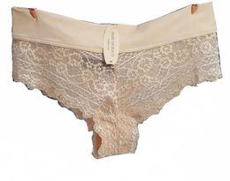 Wholesale Milk Silk Panties - Women lace panties milk silk Briefs Mid-rise underwear women Healthy lingerie Pink Nude Chinese silk Pajamas 2016 New