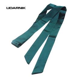 Wholesale Ribbon Belt Men - Wholesale- Women Satin Skinny Scarf Extra Long Slim Thin Belt Sash Ribbon Choker Neck Tie 035-209