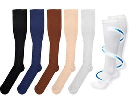Wholesale Hot Nylon Leg - Hot Miracles Socks Anti Fatigue Compression Stocking Leg Warmers Slimming socks Calf Support Relief socks 6 colors