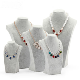 Wholesale Nice Storage - Nice Velvet Jewelry display Bust Necklace Show Bust for Jewelry Storage Stand for Decorations Mannequin Display Rack Shelf