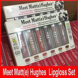 Wholesale E Liquid Colors - Matte Lip Gloss Meet Matt(e) Hughes Mini Lipgloss set Long Lasting 6pcs set Liquid Lipstick 6 colors