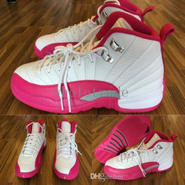 Wholesale Valentines Day Pig - Free shipping 2016 New Womens Air Retro 12 XII basketball shoes Original Pink Valentines Day 12S XII Sneakers Sports Shoes Size 36-40