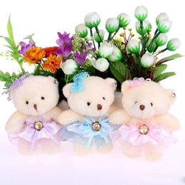 Wholesale Toy Flower Bouquet - NEW cute lovely teddy bear baby girl plush toys doll kid doll flower bouquets bear For Christmas Gift doll cute bears