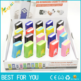 Wholesale flameless lighters - Rechargeable electronic cigarette USB flameless Lighter Eco-Friendly portable Lighter also offer arc torch lighter best