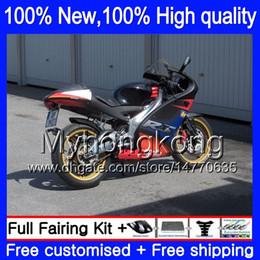 Carcaças para Aprilia RS4 RS125 99 00 01 02 03 04 05 RS-125 4MY18 Preto vermelho azul RSV125 RS 125 1999 2000 2001 2002 2003 2005 Carenagem de