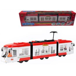 Wholesale Battery Trains - Metro tram violence plastic toy electric cattle have bi- city train tramway children's toys free shipping