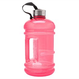 Wholesale Bpa Water - Wholesale- 2.2L Large Capacity BPA Free Sport Gym Training Drink Water Bottle Bucket Cups Cap Kettle Workout Outdoor Camp