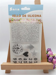 "Wholesale Scrapbook Letters - Wholesale- ""clock and letter number"" Scrapbook DIY photo Album paper craft clear stamp transparent for christmas gift SY-041"