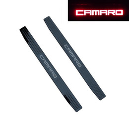 Wholesale Door Sills - Red LED Illuminated Door Sill Scuff plate Covers For 2010-2017 Chevrolet Camaro (Fits: Camaro)
