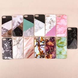 Wholesale Iphone Cases Stones - New Scrub Marble Stone image Painted Soft TPU Case for iphone 7 5 5s SE 6 6s 6Plus 7plus 8 8plus Silicone Case