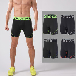Wholesale Tight Gym Shorts Wholesale - Wholesale- Workout compression running shorts mens tennis sport running shorts gym quick dry jogging fitness training tights running shorts