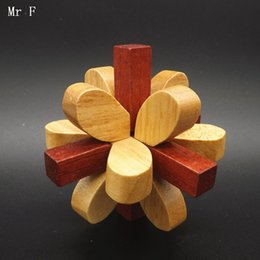 Wholesale Blossom Toys - Plum Blossom Mind Game Wooden Toy Kid Intelligence Gadget Child Model Toy Teaching Aids Christmas Gifts