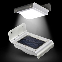 Wholesale Outdoor Security Lighting Motion Sensor - 16 LED Solar Power Motion Sensor Garden Security Lamp Outdoor Waterproof Light By Fast DHL