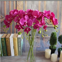 Wholesale Orchids For Wedding - 78cm 30.7 PU Phalaenopsis Real Touch Butterfly Orchid Fake Orchids Artificial Orchid Flower For Wedding Decoration