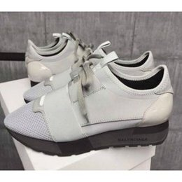 Wholesale Color Light Designer - Fashion color matching sneakers Top Quality Designer Low Top women Shoes Casual Kanye West Style Race Runner Mesh Breathable Flats