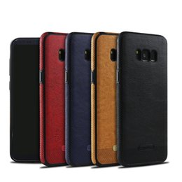 Wholesale I Phone Galaxy Cases - Luxury Leather case cover for Samsung galaxy S8 Plus S7 edge thin slim back case for iPhone 7 7Plus i Phone 6 Plus