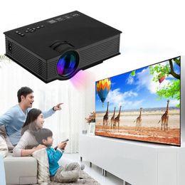 Wholesale home cinema wireless - UNIC UC46 LCD Projector 1200 Lumens 2.4G WiFi Wireless Portable LED Home Theater Cinema Multimedia 1080P USB SD HDMI VGA IR UC40