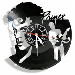Wholesale Friends Walls - PRINCE vinyl Wall Clock- Modern room decor-Unique Handmade gift hanging clcoks for friends and someone you love
