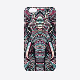 Wholesale Wholesale Aztec Iphone Cases - Aztec Animal Case Luminous Embossed Feel King Of Forest Lion Elephant Chimpanzee Funda For Iphone 7 5 5s SE 6 6 s Plus Capa Para