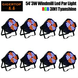Wholesale Led Windmill Wholesale - TIPTOP 8 Pack 54x3 Watt Red Green Blue Stage Light Led Par Can Disco DJ Stage Wedding Uplighting Theater Windmill Rotation Color Changing