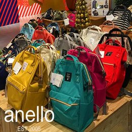 Wholesale Harajuku Zipper - 31 Colors Anello Backpacks For Students Japan Designer Backpacks Double Shoulder Bags Harajuku Style Travelling Backpack CCA6644 6pcs