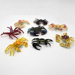 2017 novo 8 de alta qualidade 6CM mini modelo de simulação de caranguejo brinquedo atacado material de plástico frete grátis supplier wholesale plastic crabs de Fornecedores de grosso de caranguejos plásticos