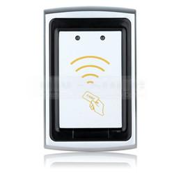 Lector de tarjetas de control de acceso online-Calidad impermeable Metal Wiegand 26 125 KHz EM 4100 RFID lector de tarjetas de identificación para el Kit de sistema de control de acceso K76