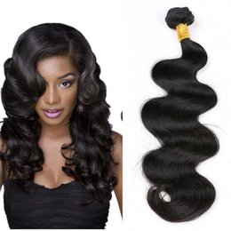 Wholesale 36 Hair Extensions - Anemone Virgin Brazilian Hair Bundles 1pc 8-36 inch Unprocessed Peruvian Body Wave Human Hair Weaves Extensions Double Weft Free Shipping