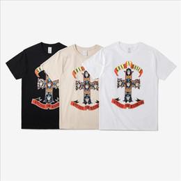 Wholesale Iron Man Guns - Men Tshirt Homme 2017 Iron Maiden T shirt Brand 3D Guns N Roses Print Black Man Metal Shirt Hip Hop Men's T-shirts Cotton Casual
