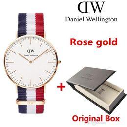 Wholesale Womens Classic Watch - Classic Rose gold men womens Wrist watches Luxury Brand Famous Quartz Watch Female Clock Relogio Montre Femme 36 40mm with box