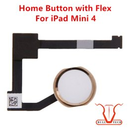 Wholesale Ipad Keys - For iPad mini 4 Home Button Key Flex Cable Replacement Parts Black Gold White Colour For ipad mini 4 DHL Free Shipping