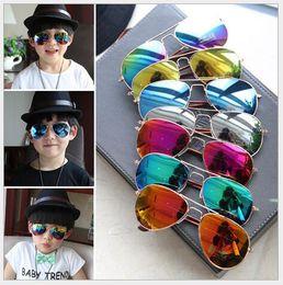 Wholesale Kids Fashion Eyewear - Children Girls Boys Sunglasses 2017 Design Kids Beach Supplies UV Protective Eyewear Baby Fashion Sunshades Glasses