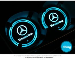 Wholesale E Pads - Dedicated to the new Mercedes Benz GLC C E cup pad pad LED luminous cup interior modifications colorful atmosphere lamp