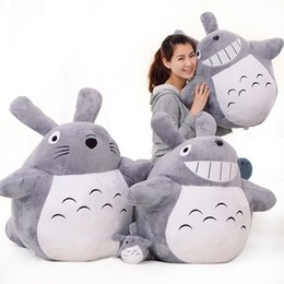 Wholesale Toys Sold Christmas - Hot Selling Classic Movie Famous My Neighbor Totoro Stuffed Plush Toys Cartoon Cat Animal Toy Adult Children Kids Dolls Nice Gift