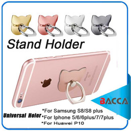 Wholesale Ring Rotate - 360 Rotating Metal Ring Mobile Phone Holder Universal Mount Finger Grip for Samsung Galaxy S7 S8 s8 plus iPhone 6 6s Plus stand